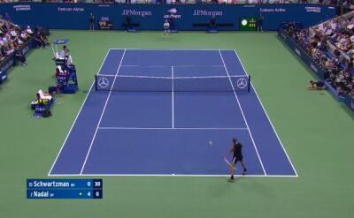 Skrót meczu Nadal - Schwartzman w ćwierćfinale US Open