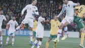 Cristiano Ronaldo i kibic podczas meczu el. Euro 2020 Portugalia - Litwa