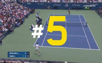 5 najlepszych zagrań finału mężczyzn US Open