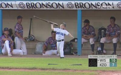 Sześciolatek skradł show podczas meczu baseballa