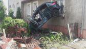 Pijany kierowca wpadł w dom