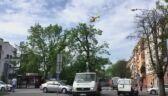 Moment lądowania śmigłowca