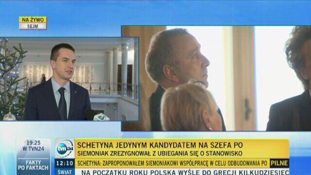 Adam Szłapka z Nowoczesnej komentuje rezygnację Siemoniaka