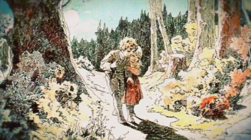 Czerwony Kapturek, Jaś i Małgosia, Śpiąca Królewna i Królewna Śnieżka w baśniowych ilustracjach