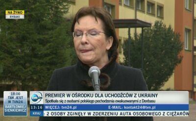 Ewa Kopacz o ostatnich doniesieniach ws. afery podsłuchowej