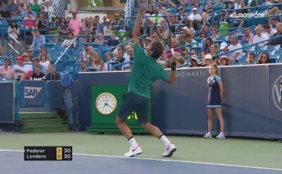 Bezbłędny Federer zagra w 3. rundzie w Cincinnati