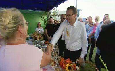 Premier Morawiecki podczas pikniku rodzinnego PiS w Stalowej Woli
