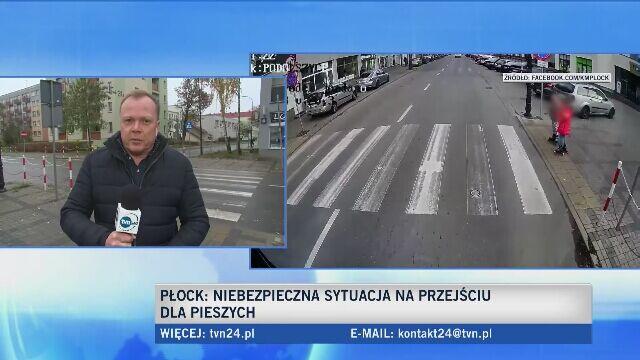 Policja ustala dane kierowcy z Płocka