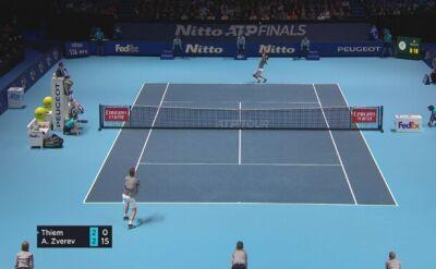 Skrót meczu Thiem – Zverev w półfinale ATP Finals