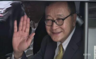 Sam Rainsy przyleciał w czwartek do Indonezji