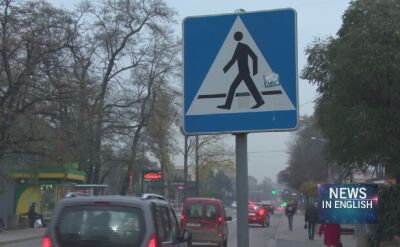 Poland. Teenage girl hit by two cars at a crosswalk
