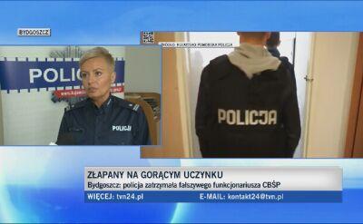 Policja zatrzymała fałszywego funkcjonariusza CBŚP