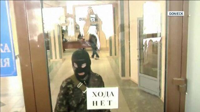 Prorosyjscy separatyści okupują państwowy budynek w Doniecku