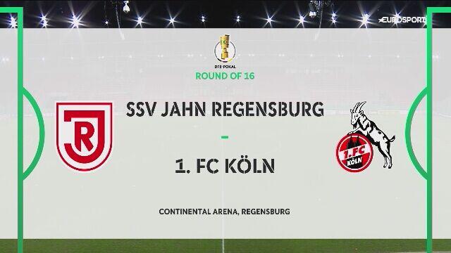 Skrót meczu Regensburg - FC Koeln w 1/8 finału Pucharu Niemiec
