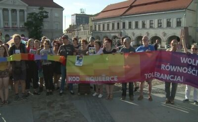 Manifestacja solidarności z członkami Marszu Równości z Białegostoku w Kielcach