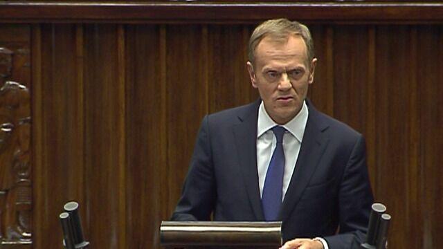 Premier składa wniosek o wotum zaufania