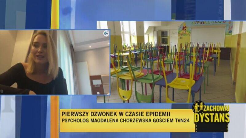 Psycholog Magdalena Chorzewska o powrocie dzieci do szkół: my jesteśmy przykładem dla dzieci, a nastąpiło bardzo duże rozluźnienie