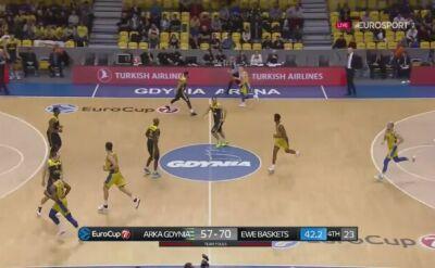 Arka Gdynia przegrała z EWE Baskets Oldenburg w 6. kolejce Pucharu Europy