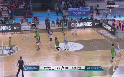 Polski Cukier Toruń przegrał z Dinamo Sassari w 4. kolejce Ligi Mistrzów