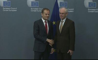 Van Rompuy powitał Tuska w Brukseli