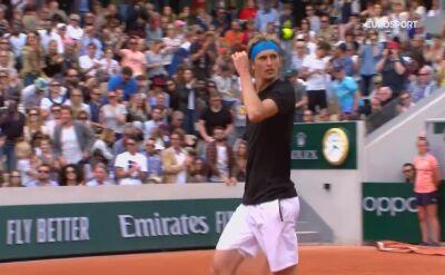 Skrót meczu Ymer - Alexander Zverev w drugiej rundzie Roland Garros