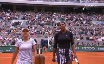 Skrót meczu Serena Williams - Kurumi Nara w drugiej rundzie Roland Garros