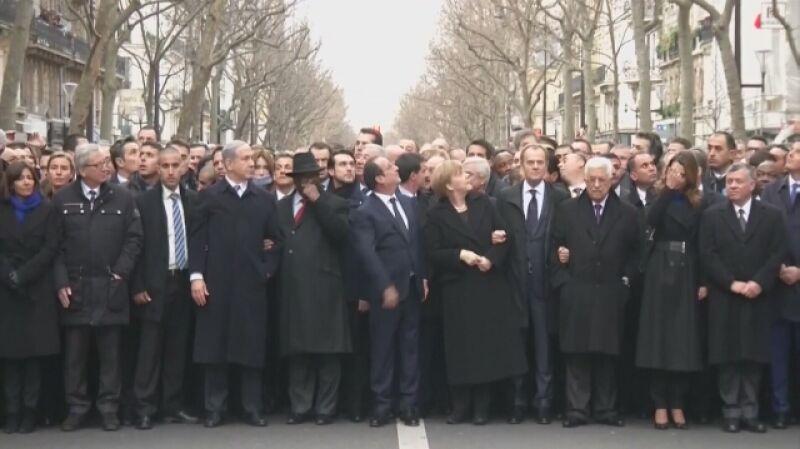"""""""Je suis Charlie"""". Marsz Jedności przeszedł ulicami Paryża"""