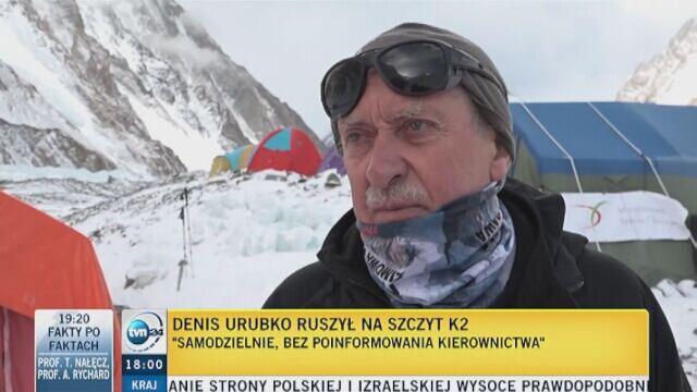 Reporter Faktów TVN w rozmowie z Krzysztofem Wielickim