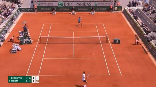 Skrót meczu Djoković - Thiem