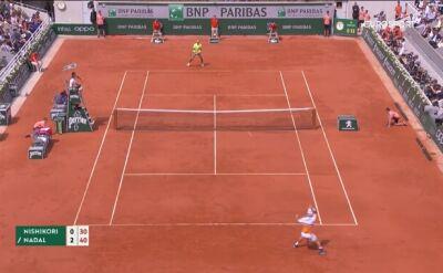 Skrót meczu Nadal - Nishikori w ćwierćfinale Roland Garros