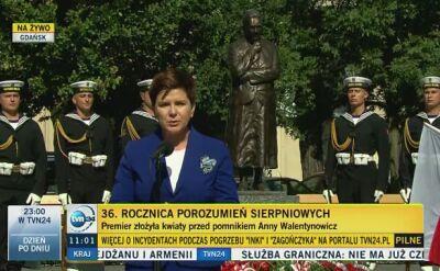 Beata Szydło o Annie Walentynowicz