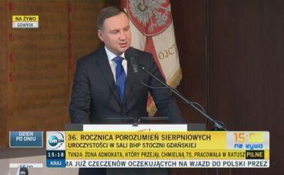 Andrzej Duda w sali BHP
