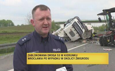 Wypadek na S5. Dwie osoby poszkodowane