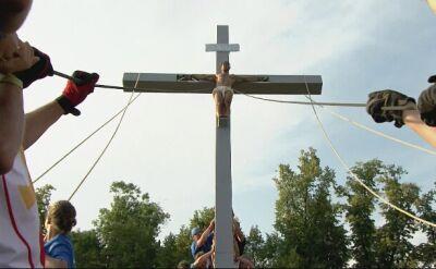 """""""Jezus przybity do krzyża"""". Etiuda towarzysząca Stacji XI"""