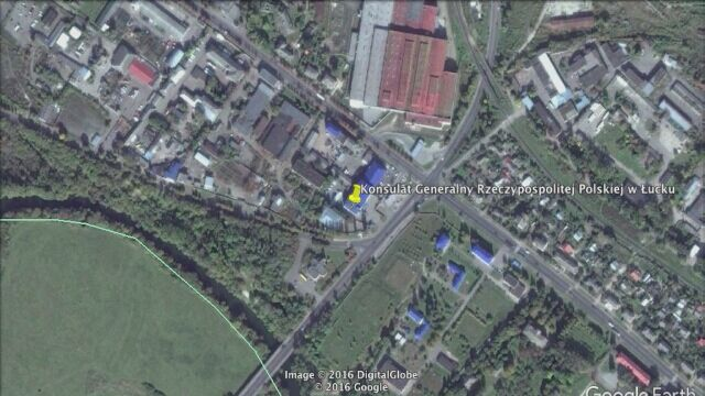 Ostrzelano budynek polskiego konsulatu w Łucku