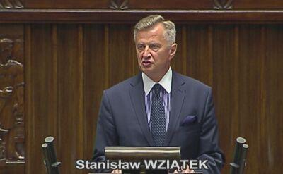 Stanisław Wziątek wypowiedział się w imieniu klubu SLD