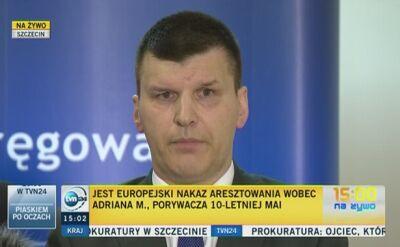 Prokuratura: porywacz Mai trafi do Polski w ciągu 10 dni