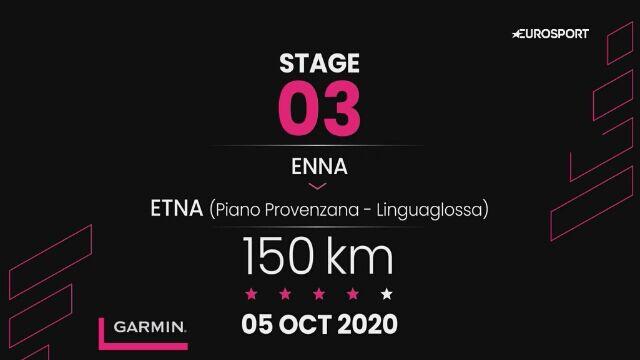 Giro d'Italia - profil 3. etapu: Enna - Etna