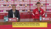 Paulo Sousa i Damian Szymański po meczu z Anglią