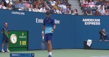 Przełamanie Djokovicia przez Miedwiediewa w 2. secie finału US Open