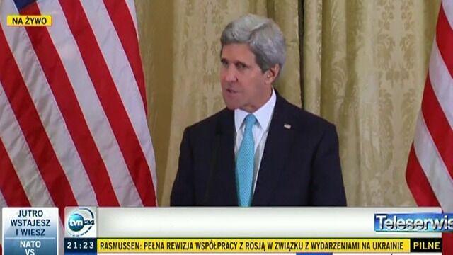 Kerry: Rosja dokonała wyboru.  Dzisiaj jasno powiedzieliśmy, że jest on niewłaściwy