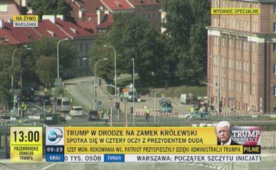 Kolumna Trumpa dojechała na Zamek Królewski