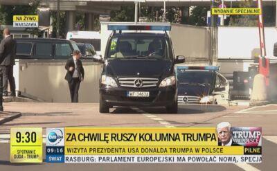 Trump wyruszył z hotelu