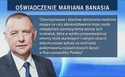 """""""Będę przeciwstawiał się próbom ataku na moją osobę"""". Oświadczenie Mariana Banasia"""