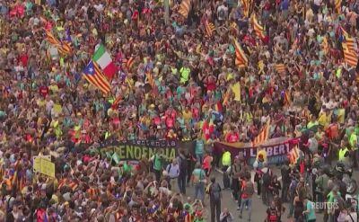 Ponad pół miliona osób protestuje w Barcelonie