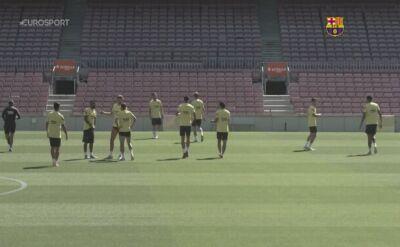 Luis Suarez trenował razem z zespołem Barcelony