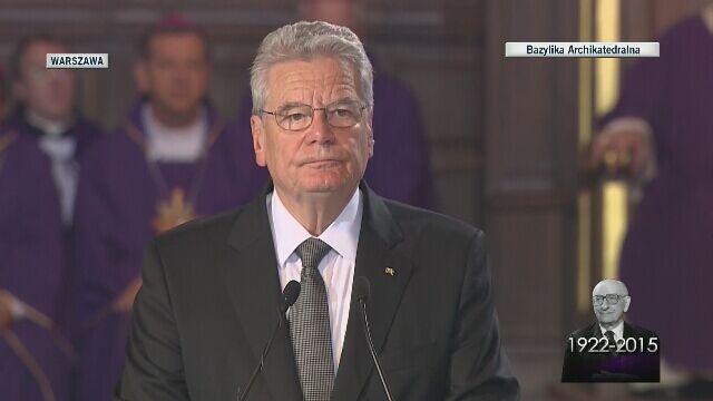 Joachim Gauck żegna Bartoszewskiego