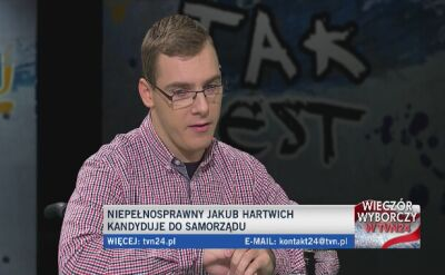 Jakub Hartwich o kandydowaniu do samorządu