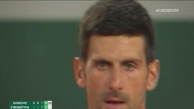 Novak Djoković dał się ponieść emocjom w meczu z Matteo Berrettinim