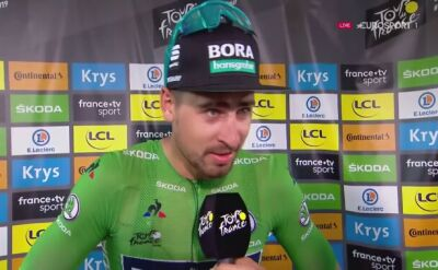Sagan po wygraniu 5. etapu Tour de France